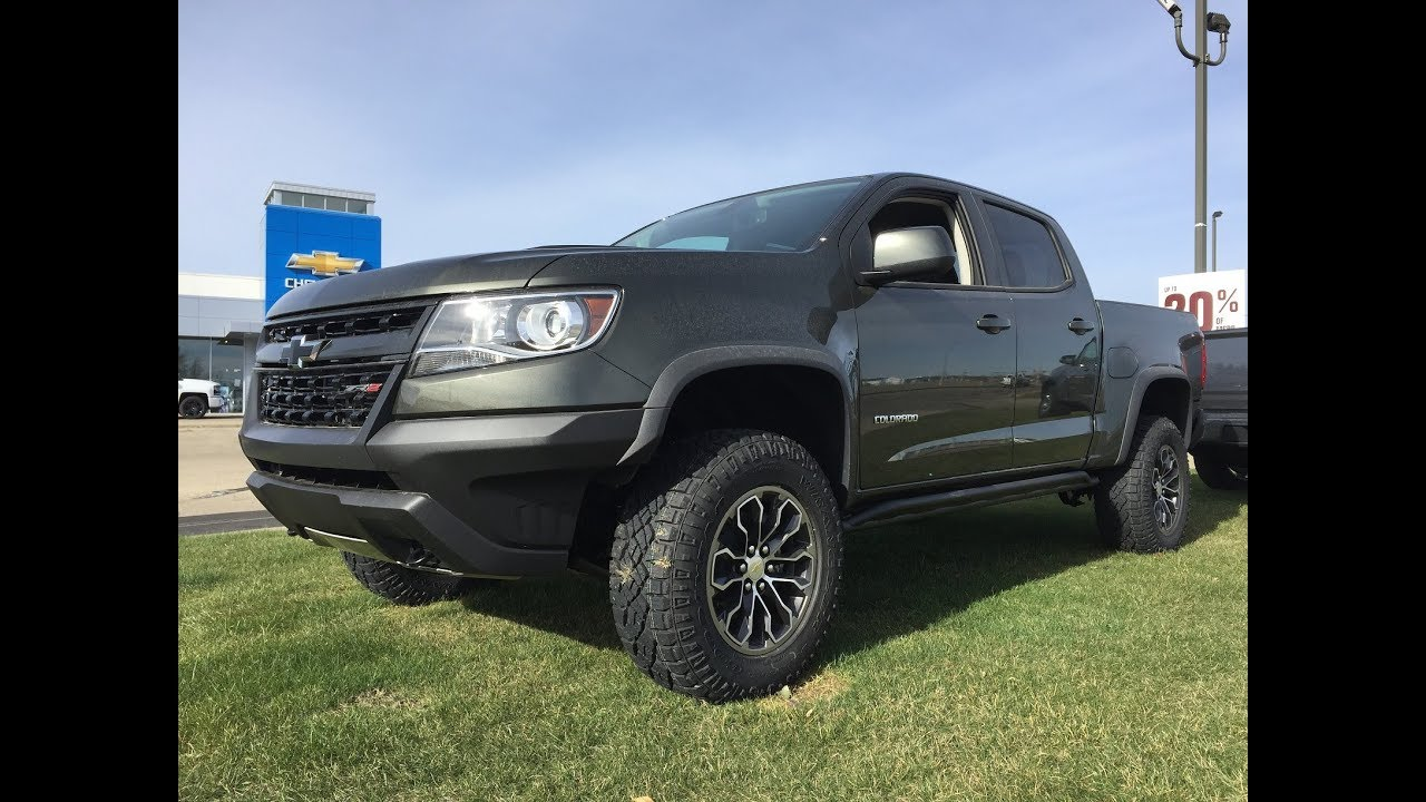 New Green 2018 Chevrolet Colorado Diesel Zr2 4x4 18n053 Youtube