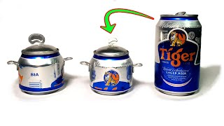 how to make a pot from beer cans | Pot beer can