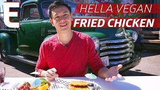 Vegan Chicken and Waffles From A Classic Car Garage — Dining on a Dime