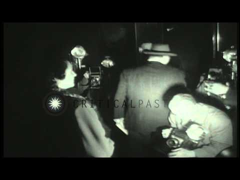 Julius and Ethel Rosenberg and associates following conviction of espionage. HD Stock Footage