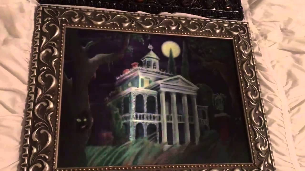 Disney Authentic Haunted Mansion Lenticular Framed Portraits From