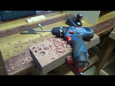 Parafusadeira/Furadeira a bateria Bosch 12v Teste Completo