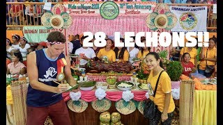 LECHON FESTIVAL IN THE PHILIPPINES! (Eating 28 Roasted Filipino Pigs)