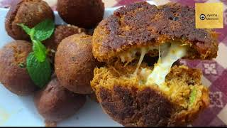 chicken kebab recipe/chicken chęese balls /how to use leftover chicken curry