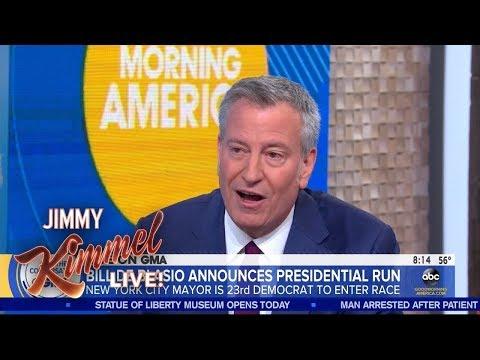 New York Mayor Bill de Blasio Running for President