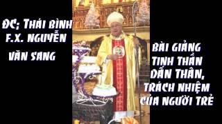 ĐC F.X.Nguyễn văn Sang bài giảng tinh thần dấn thân, trách nhiệm của người trẻ