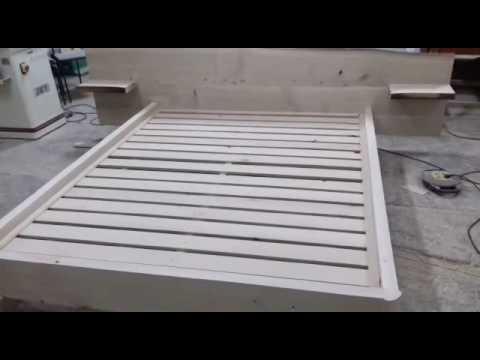 Видеозапись Кровать из массива Дерева готова под покрытие