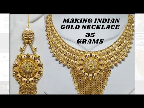 Gold Necklace Set Making | Indian Jewelry | Jewelry Making | How it's made | 22k Gold Jewelry