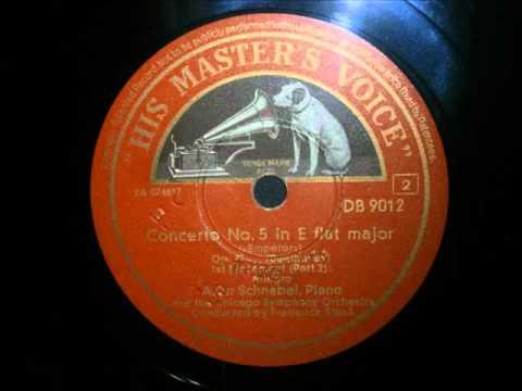 Artur Schnabel - Beethoven - Piano Concerto No. 5 Emperor (1942)