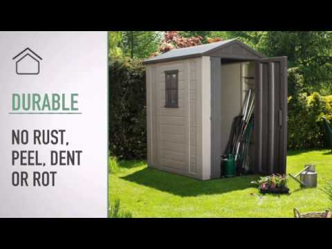 Garden Sheds 6 X 6 keter apex plastic garden shed 6 x 4ft at - youtube