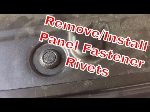 How To Remove and Install Panel Fastener Rivets - Toyota, Scion, Lexus