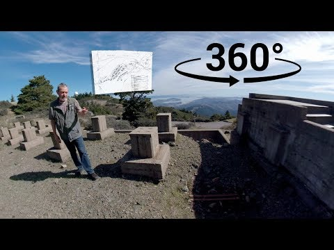 Tour of ruins of Cold War Air Force Station on Mt. Tamalpais | 360 video