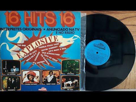16 Explosive Hits - Coletânea Pop Internacional - (Vinil Completo - 1977) - Baú Musical