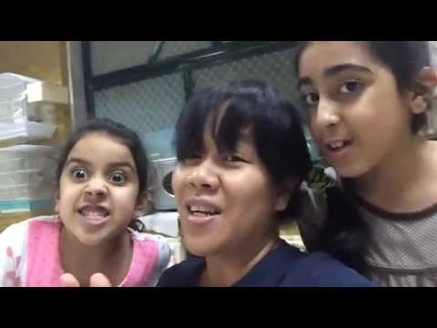Overseas Filipino Worker sings Tagalog songs with her employer's children