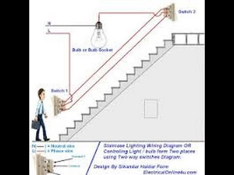 Staircase timer switch connection diagram new 2016 - YouTube