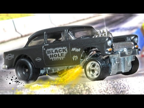 Hot Wheels '55 Chevy Bel Air Gasser - Black Hole Racing - Premium Collector Set (2020)