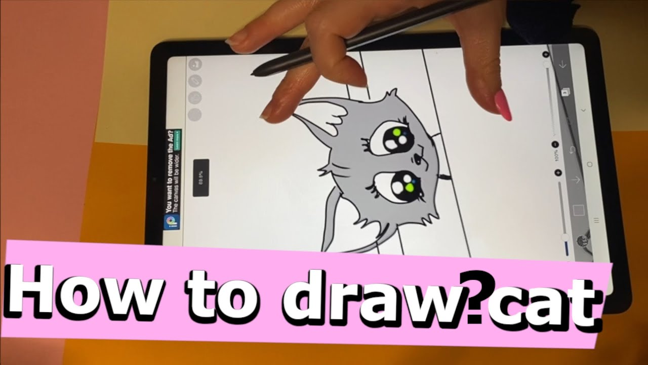 "How to draw cat : drawing my comics, episode ""Funny tales about stray kitten"" part 1"