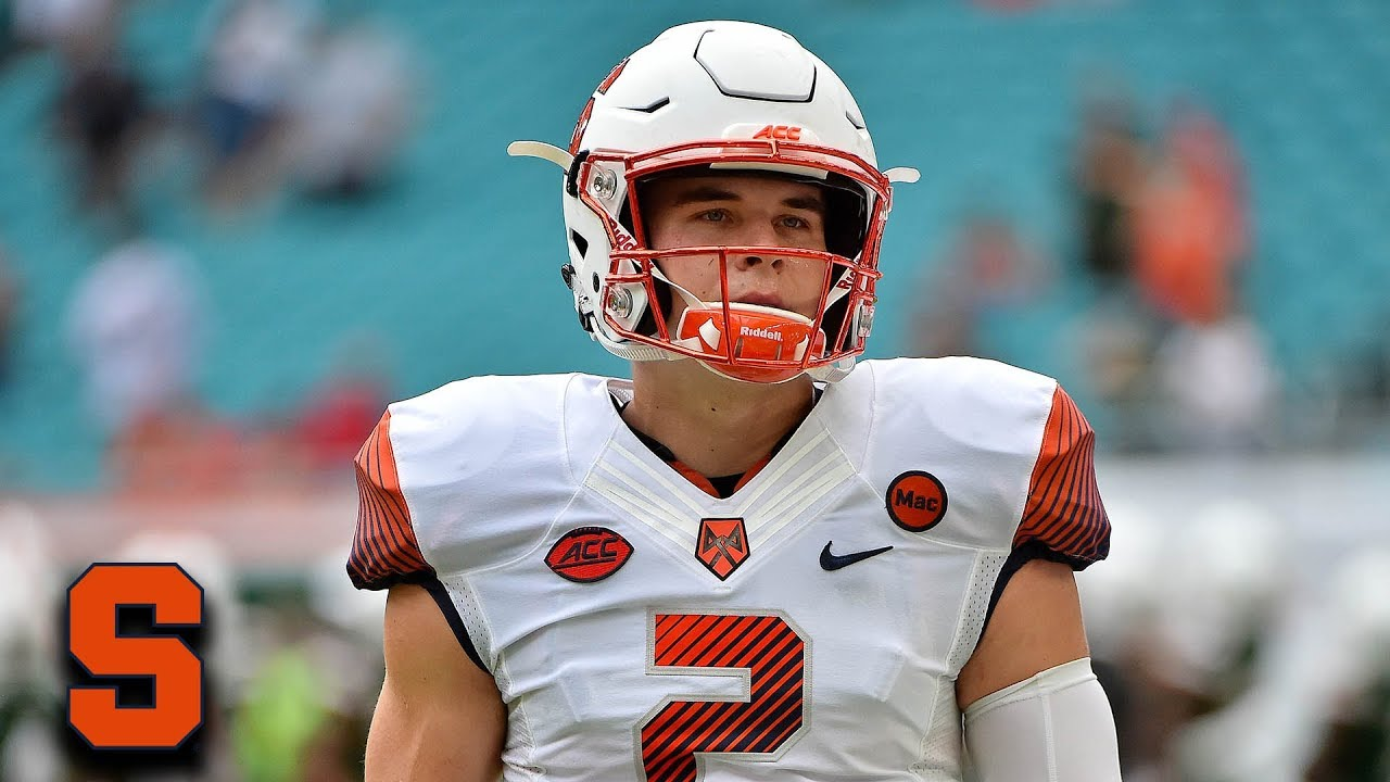 Syracuse QB Eric Dungey Steals Ball Back After Interception - YouTube d352dc581