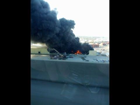 Georgia Ports Massive Warehouse Fire