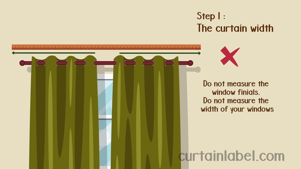 curtain label measuring guide www