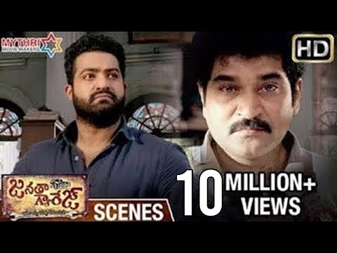 Jr NTR & Rajiv Kanakala Best Performance | Best Dialogues & Fight Scene | Janatha Garage Movie