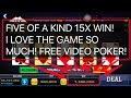HOW TO WIN FIVE OF A KIND IN VIDEO POKER GAMES ONLINE ** BIG WIN ** BONUS OF DEUCES WILD