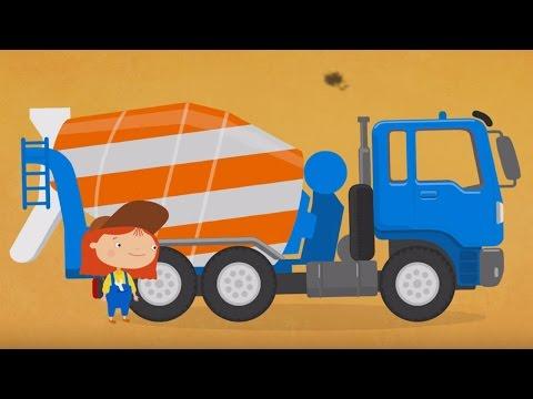 Развивающий мультфильм про машинки. Раскраска. Доктор Машинкова. Бетономешалка