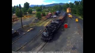 7/14/2018 Eight car train 215 arrives into Chama, NM