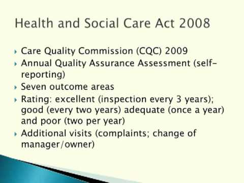 A Hindrance or a Help? The Contribution of Inspection to the Quality of Care in Homes