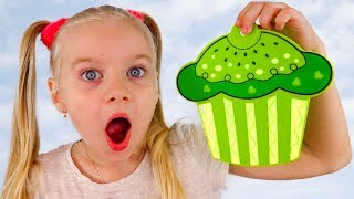 Learn colors with Sisters and Magic Transformation of Colored Cupcakes Fun learning Colors Toys for