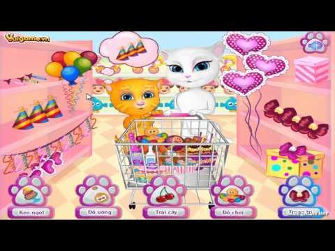 Game sinh nhật mèo Tom - Game vui nấu ăn
