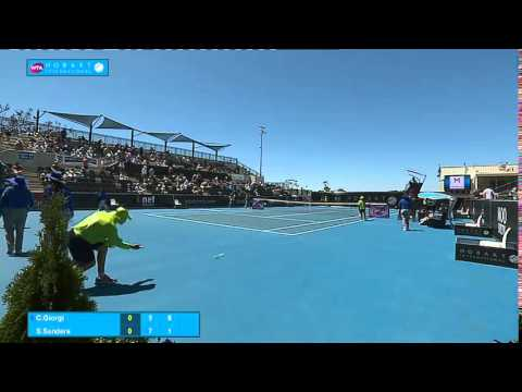 Camila Giorgi vs Storm Sanders: Full-match replay (1R) - Hobart International 2015