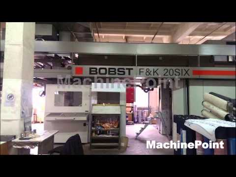 BOBST 20Six Second Hand 8 Colours CI flexo presses Machines. MachinePoint.