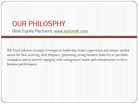 Best Private Equity Advisors, India Equity Partners