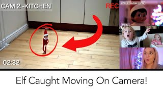 We caught our elf on the shelf moving camera! set up some security cameras to see moving! captured in 2018.vl...