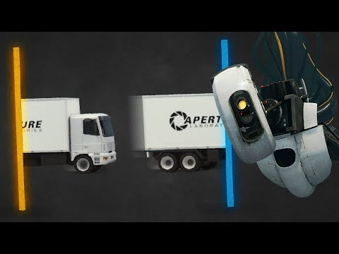 Building Crazy Bridges In The Portal Universe! - Bridge Constructor Portal Gameplay Part 1