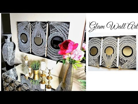 Diy Inexpensive Large Bling Wall Art| Home Decor ideas for less