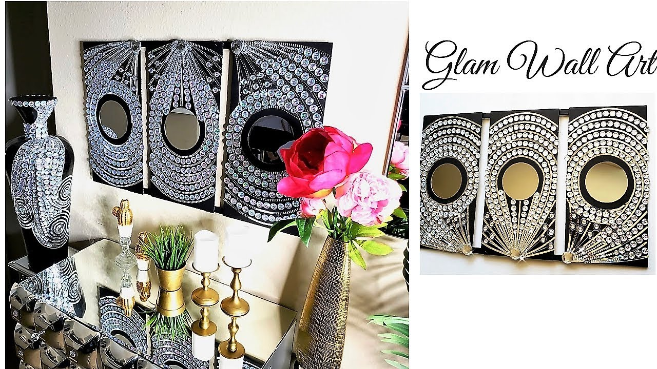 Diy Inexpensive Large Bling Wall Art Home Decor Ideas For