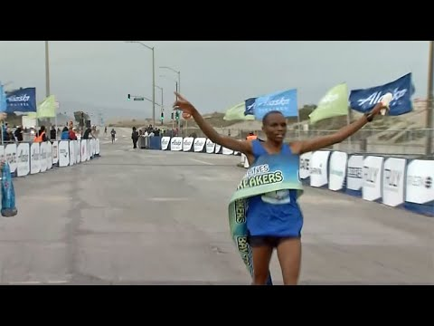 Raw Video: Bay to Breakers Finish Line at Ocean Beach