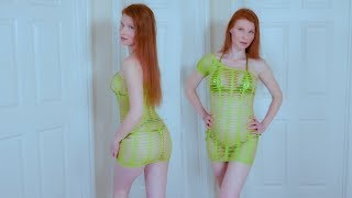 Bikini Fishnet Lounge Mini Dress Try On Review
