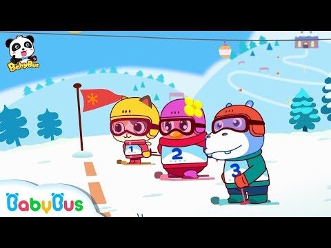 Baby Panda's Dance Party on Ice   Winter Games for Kids   Play Ice Hockey   BabyBus