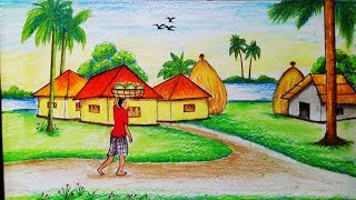 simple landscape drawing easy beginners draw step drawings paintingvalley