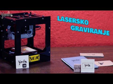 Mini CNC laser gravir stampac