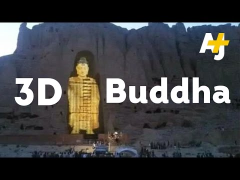 Destroyed Buddha Statues Rise Again...In 3D