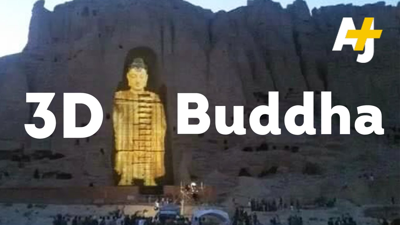 Destroyed by the Taliban but now the Buddha statues have
