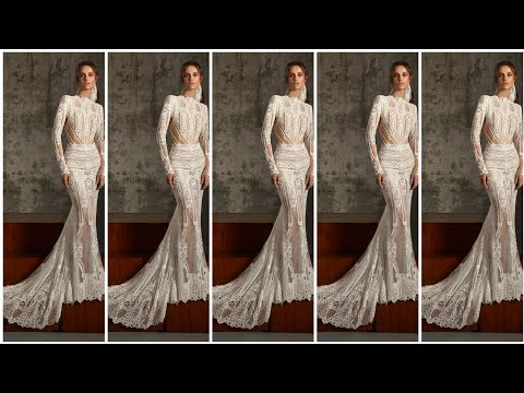 Very Very Gorgeous And Classy Mermaid Long Tail Lace Bridal Dresses 2020