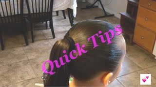 Quick Tips #4 How to get a lump-free ponytail