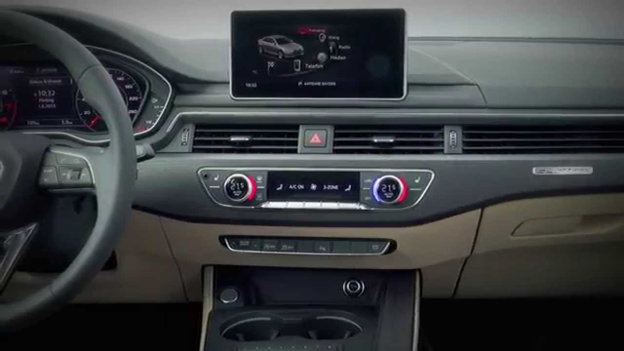 New 2016 audi a4 sedan interior youtube for Lederen interieur audi a4