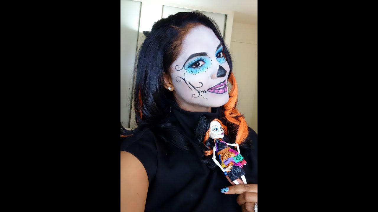 halloween tutorial monster high skelita calaveras