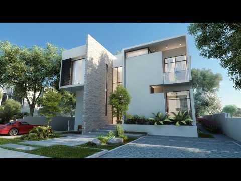 Dubai Luxury Villas Architectural CGI fly-through